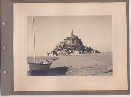 28 Photo Mont Saint Michel France -sans Doute Vers 1950 -Poulard - Photos Collées Sur Page D'album  ! - Lieux