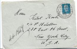 W-258 / Leipzig Nach N.Y. 1929 Mit Hindenburg 25 Pfg., Messe Leipzig Stempel - Briefe U. Dokumente