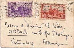 Lettre Cachet Chargeurs Réunis Sur TP Cote D'ivoire Pour L'Allemagne - Côte-d'Ivoire (1892-1944)