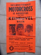 INTERNATIONALE MOTORCROSS KEIHEUVEL BALEN  15-8-1975. - Affiches