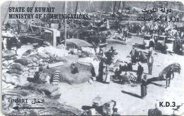 Kuwait - Dockside Scene - 39KWTE - 1997, Used - Kuwait