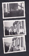 Photo Originale Lot De 3 Guerre 39-45 Soldats Francais Blesses Suisse  Interlaken Bezirks Hotel Hopital Aout 1940 - Guerre, Militaire