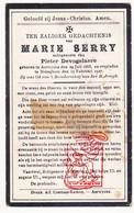 DP Marie Serry ° Aartrijke Zedelgem 1868 † Bekegem Ichtegem 1927 X P. DeVogelaere - Devotion Images