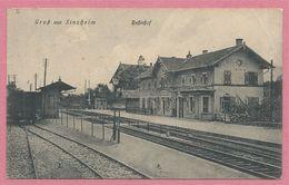 Allemagne - GRUSS Aus SINZHEIM - SINSHEIM - Bahnhof - Gare - Feldpost - Censure - Guerre 14/18 - Voir état - Sinsheim