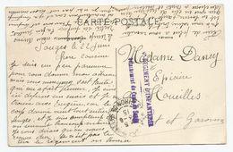 33 Gironde Cachet Camp De Souges 6e Régiment D'infanterie Détachement Du ..1915 - Marcofilie (Brieven)