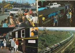 Bn - Lot De 8 Cpsm (6 Grandes Et 4 Petites) Train Auto Couchettes - Chemin De Fer Français - Treni
