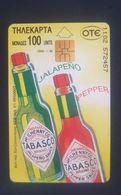 Greece Phonecard Used Tabasco Sauce 1/96 - Greece