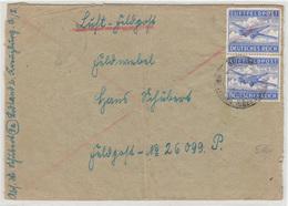 Luft-Feldpost Deutsches Reich Letter Cover Travelled 194? Bodland Kreuzburg To FP26099 B180320 - Germania