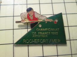 PIN513i Pin's Pins / Rare Et Beau : SPORTS / CHAMPIONNAT DE FRANCE DE BILLARD ARTISTIQUE ROCHEFORT SUR MER - Billiards