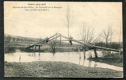 CPA - Guerre 1914-1915 - Env. Lunéville - La Passerelle Sur La Mortagne Dite Le Pont De La Mort, Animé - Guerre 1914-18