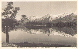 MORNING REFLECTIONS IN LAC BEAUVERT JASPER - Jasper