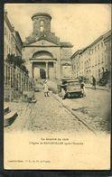 CPA - La Guerre De 1914 - La Rue Et L'Eglise De BADONVILLER Après L'incendie, Animé - Automobile - Guerre 1914-18