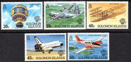 Solomon Islands 1983 Bicentenary Of Manned Flight Set Of 5, MNH, SG 493/7 (B) - Solomon Islands (1978-...)
