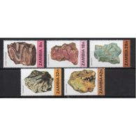 Zambia Set Of Mineral Stamps From 1982.  This Set Is In Unmounted Mint Condition. - Zambia (1965-...)