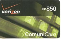 CARTE-PREPAYEE-REP DOMINICAINE-RD$50-VERIZON-COMMUNICARD-BE - Dominicaanse Republiek