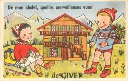 France - 08 - Carte à Système - Givet - De Mon Chalet , Quelles Merveilleuses Vues De Givet - Givet