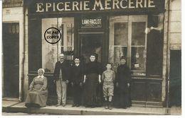 JOIGNY. CARTE PHOTO. Devanture De L' épicerie Mercerie LAMI-RACLOT, 64 Rue Jacques D' Auxerre. - Joigny