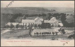 Telegraph Station, Porthcurnow, Cornwall, 1904 - Valentine's Postcard - England