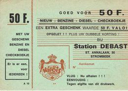 STROMBEEK-BEVER-STATION DEBAST-DRUKWERG-BENZINE-DIESEL-VALOIS-bon De Réduction Essence - Grimbergen