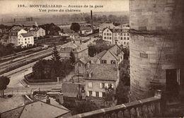 MONTBELIARD AVENUE DE LA GARE VUE PRISE DU CHATEAU - Montbéliard