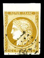 O N°1, 10c Bistre, Bord De Feuille. SUP (signé Brun/certificat)   Qualité: O - 1849-1850 Cérès