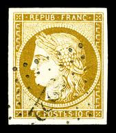 O N°1, 10c Bistre, Belles Marges Et Oblitération Légère. TTB   Qualité: O   Cote: 355 Euros - 1849-1850 Cérès