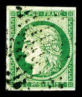 O N°2b, 15c Vertfoncé. TB (signé/certificat)   Qualité: O   Cote: 1250 Euros - 1849-1850 Cérès
