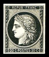 ** N°3, 20c Noir Sur Jaune, Fraîcheur Postale, SUP (signé Brun/certificat)   Qualité: ** - 1849-1850 Cérès