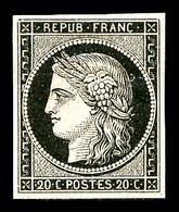 * N°3, 20c Noir Sur Jaune, TB (signé/certificat)   Qualité: *   Cote: 600 Euros - 1849-1850 Cérès