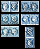 O N°4, 25c Cérès, 6 Paires Avec Nuances Différentes. TTB   Qualité: O - 1849-1850 Cérès