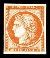 * N°5, 40c Orange, Belles Marges Et Grande Fraîcheur. SUP. R. (signé Brun/certificat)   Qualité: *   Cote: 6500 Euros - 1849-1850 Cérès