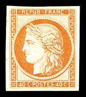 * N°5g, 40c Impression De 1862, Belles Marges, Quasi **, SUP (certificat)   Qualité: *   Cote: 800 Euros - 1849-1850 Cérès