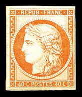 * N°5g, 40c Orange, Impression De 1862, TB (certificat)   Qualité: *   Cote: 800 Euros - 1849-1850 Cérès