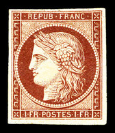 * N°6a, 1f Carmin Clair Impression Fine, Très Belle Nuance 'chaude', Grande Fraîcheur. SUPERBE. R.R. (signé Brun/certifi - 1849-1850 Cérès