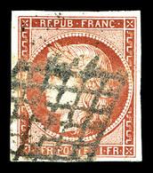 O N°6a, 1f Carmin Clair. TB (signé Calves/certificat)   Qualité: O   Cote: 1300 Euros - 1849-1850 Cérès
