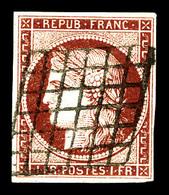 O N°6b, 1f Carminfonce, Très Jolie Couleur. TTB (certificat)   Qualité: O   Cote: 1100 Euros - 1849-1850 Cérès