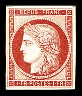 ** N°6f, 1f Carmin, Impression De 1862, Fraîcheur Postale. SUP (certificat)   Qualité: ** - 1849-1850 Cérès