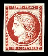 * N°6f, 1F Carmin, Impression De 1862, Léger Pelurage   Qualité: *   Cote: 900 Euros - 1849-1850 Cérès