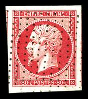 O N°17B, 80c Rose Obl Pointillés Fin, Quatre Grandes Marges Avec Voisins, Pièce Choisie. SUP (signé Scheller)   Qualité: - 1853-1860 Napoleon III