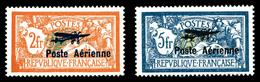 ** N°1/2, Paire Merson Surchargée, TB (certificat)   Qualité: **   Cote: 950 Euros - 1927-1959 Postfris