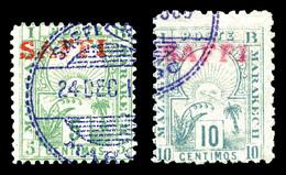 O MAROC POSTES LOCALES, N°104C/D, 5c Vert Et 10c Bleu, Les 2 Exemplaires TB   Qualité: O   Cote: 290 Euros - Lokale Post