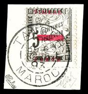 O MAROC BUREAUX Français, N°9, 5c Noir Surchargé Bdf Sur Son Support. SUP. R. (signé Calves/certificat)   Qualité: O   C - Gebruikt