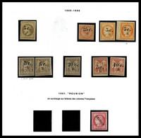 N COLONIES FRANCAISES, REUNION, Collection De Timbres Neuf */** Présentée En Pages D'Album MOC. TB   Qualité: N   Cote:  - Frankrijk (oude Kolonies En Protectoraten)