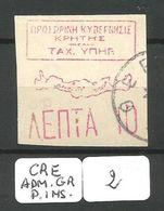 CRETE POSTE DES INSURGES YT 7 Ob - Crete