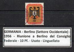 Germania - Berlino - 1956 - Riunione A Berlino Del Consiglio Federale - Usato - Linguellato - (FDC8918) - [5] Berlin