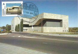 "Spain Maxicard 2018– España Tarjeta Máxima Con Sello Personalizado De La ""Palacio De Congresos""  De Mérida - Monumenti"