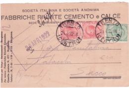 Cartolina Commerciale Da Trento A Rovereto 1922  G729 - Marcophilia