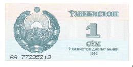 Uzbekistan - Pick 61 - 1 Sum 1992 - Unc - Uzbekistán