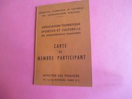 Doc Administratif/Carte De Membre/Ass.Touristique Sportive & Culturelle Des Adm.Financiéres/Daniel PEDE/1965-66   AEC134 - Other Collections