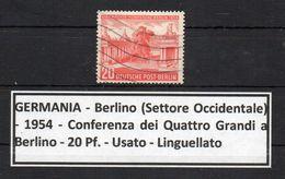 Germania - Berlino - 1954 - Conferenza Dei Quattro Grandi A Berlino - Usato - Linguellato - (FDC8921) - [5] Berlin